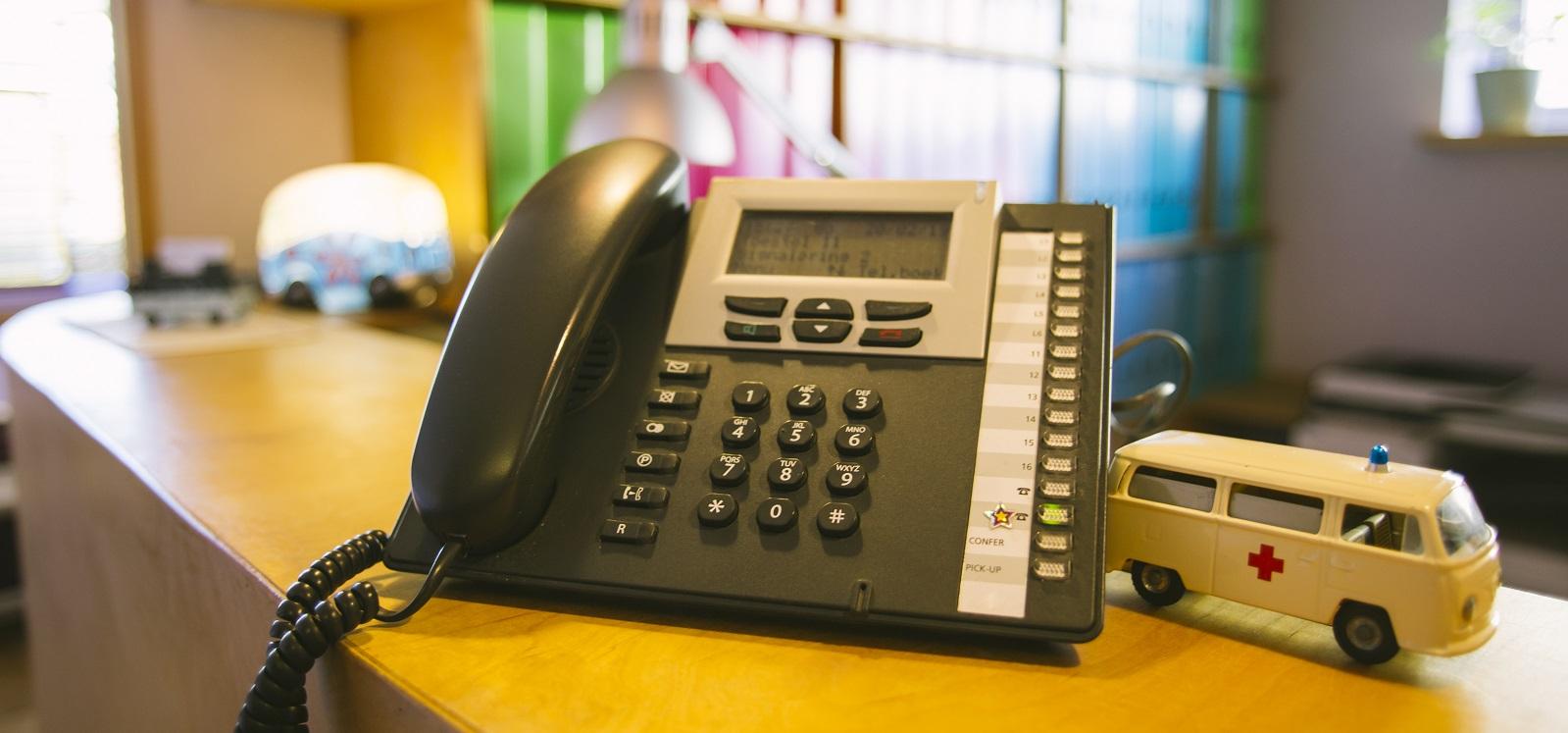 nieuwe telefooncentrale op de praktijk